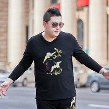 2020 plus size 8XL 7XL 6XL 5XL T-Shirt Men Spring Autumn New Long Sleeve T Shirt Men Brand Soft Pure Cotton Slim Fit Tee Shirts(China)