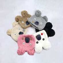 Children Girl Hat Winter Baby Boy Handmade Cap Toddler Knitted WIth Pompom Kids Boys Soft Warm Beanie Girls