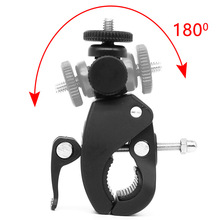 Tripod-Mount Bracket Screw-Clip Bicycle-Handlebar-Clamp Gopro DSLR DV 1/4-Camera Bike