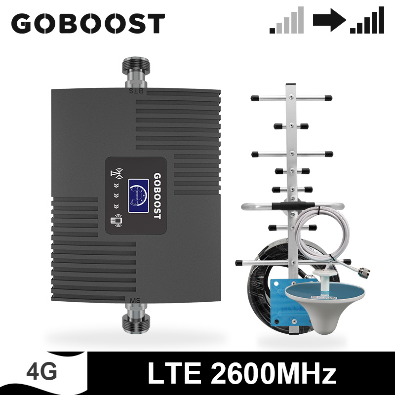 GOBOOST Mobile Signal Booster 4g Single Band 7 Amplifier LTE 2600 MHz Cell Phone LCD Display Mini Size Repeater