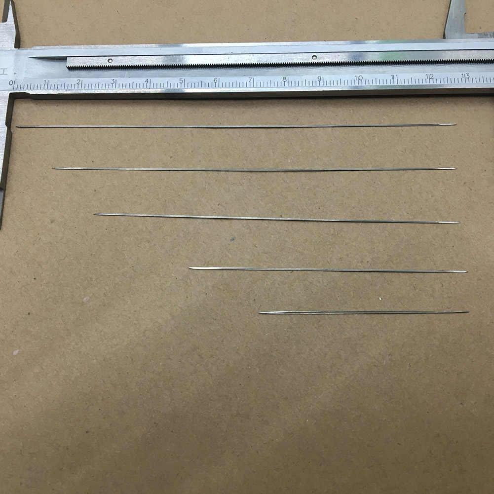 1 pièces aiguilles à perles incurvées à ouverture centrale outils en acier inoxydable broches pour cordon de filetage de perles cordon de fabrication de bijoux facile