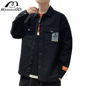 MAIDANGDI New Spring 2020 Fall Men's Bomber Jacket Casual Male's Solid Color Coat Teenager Stand-up Collar Fashion Streetwear цена 2017