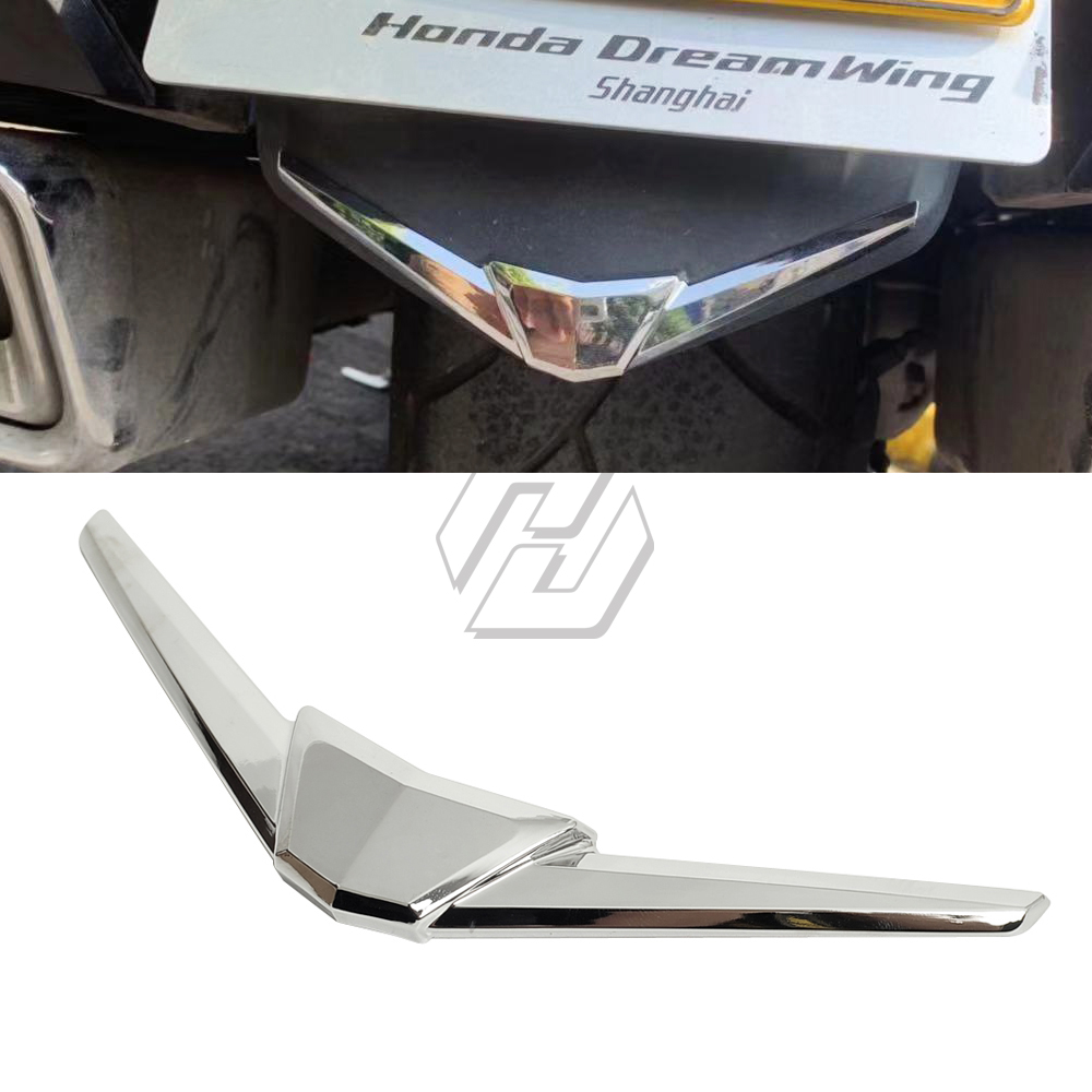 Chrome Rear Fender Tip Fender Trim Case for <font><b>Honda</b></font> Goldwing GL1800 <font><b>Gold</b></font> <font><b>Wing</b></font> <font><b>GL</b></font> <font><b>1800</b></font> 2018 2019 + image