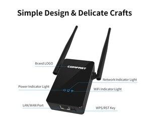 Image 5 - Comfast CF WR302S kablosuz WIFI yönlendirici tekrarlayıcı 300M 10dBi anten Wi fi sinyal tekrarlayıcı 802.11N/B/G Roteador Wi fi menzilli Extende