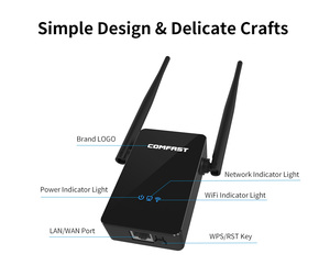 Image 5 - Comfast cf CF WR302S ワイヤレス無線 lan ルータリピータ 300 メートル 10dBi アンテナ wi fi 信号リピータ 802.11N/b/g roteador wi fi 鳴った extende