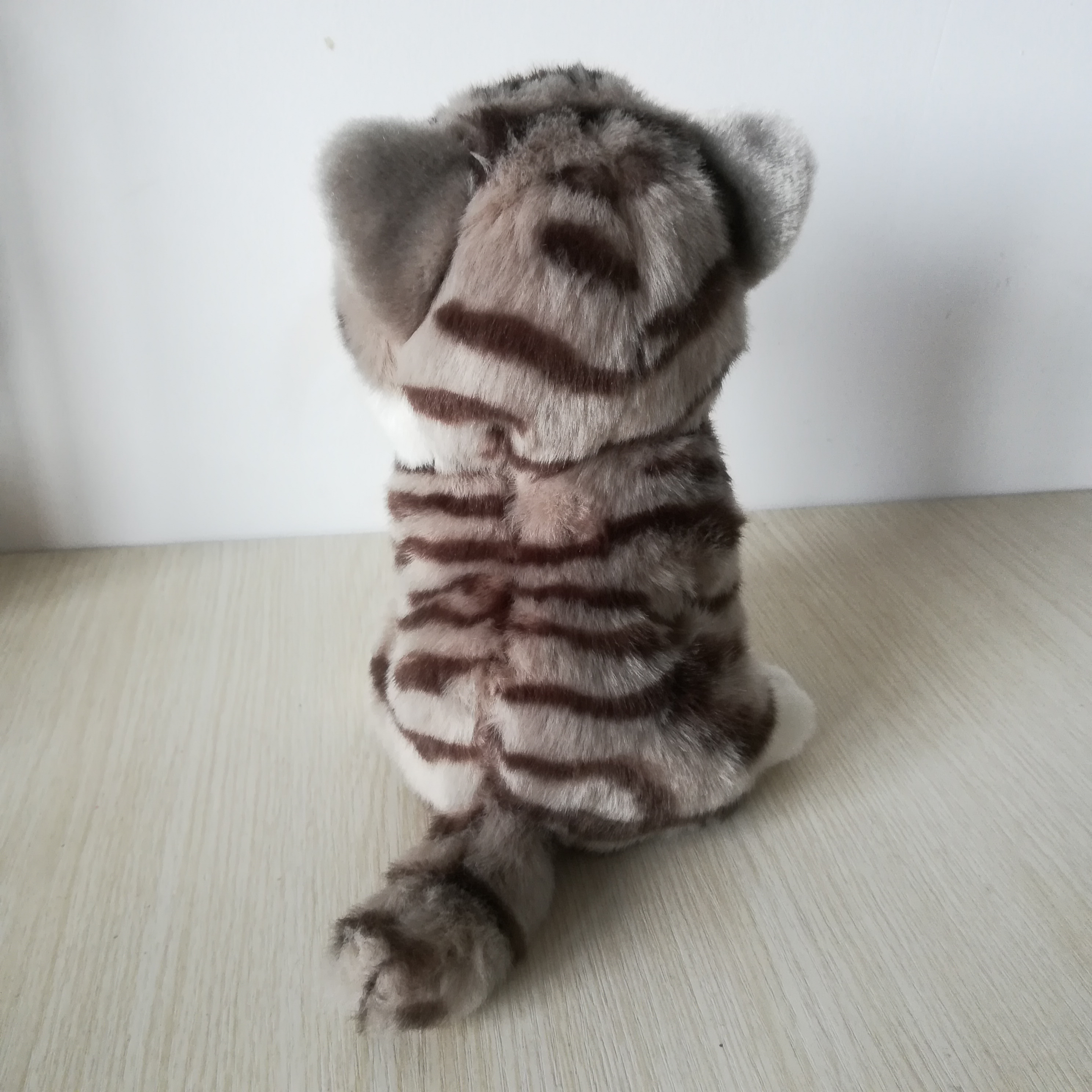 Environ 21cm chat squattant belle gris kitty doux poupée bébé jouet cadeau d'anniversaire s0165 - 3