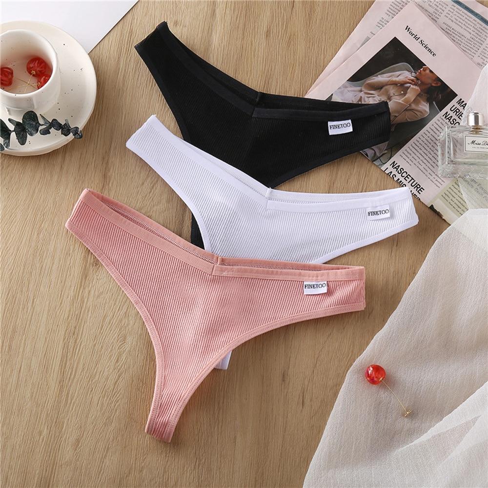 1PCS G-string Panties Cotton Women's Underwear Sexy Panties Female Underpants Thong Solid Color Pantys Lingerie M-XL Design