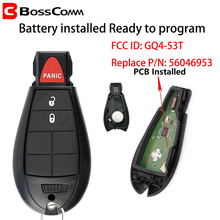 Bosscomm for Chrysler Dodge RAM Car Key Fob Remote 1500 2500 3500 4500 Jeep Cherokee 2013-2018 PCF7961A GQ4-53T 2+1 Button tricolour 2pcs h15 7070 headlight with led bulb low beam for dodge ram 1500 2500 3500 4500 5500 2 2 2013 2014 2015 td004