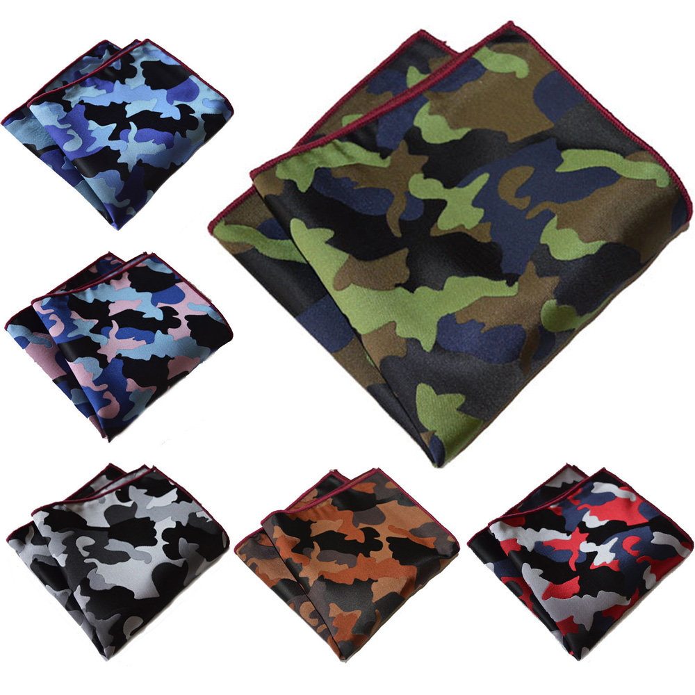 Men Camouflage Pocket Square Hanky Wedding Party Handkerchief Men's Accessories YXTIE0302