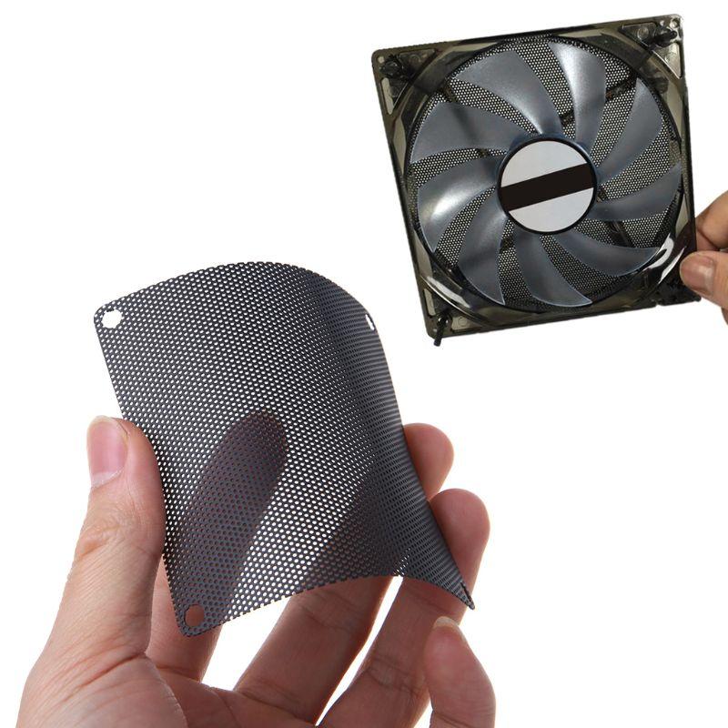 5PCS PVC Fan Dust Filter PC Dustproof Case Cuttable Computer 80mm Mesh Black PXPA
