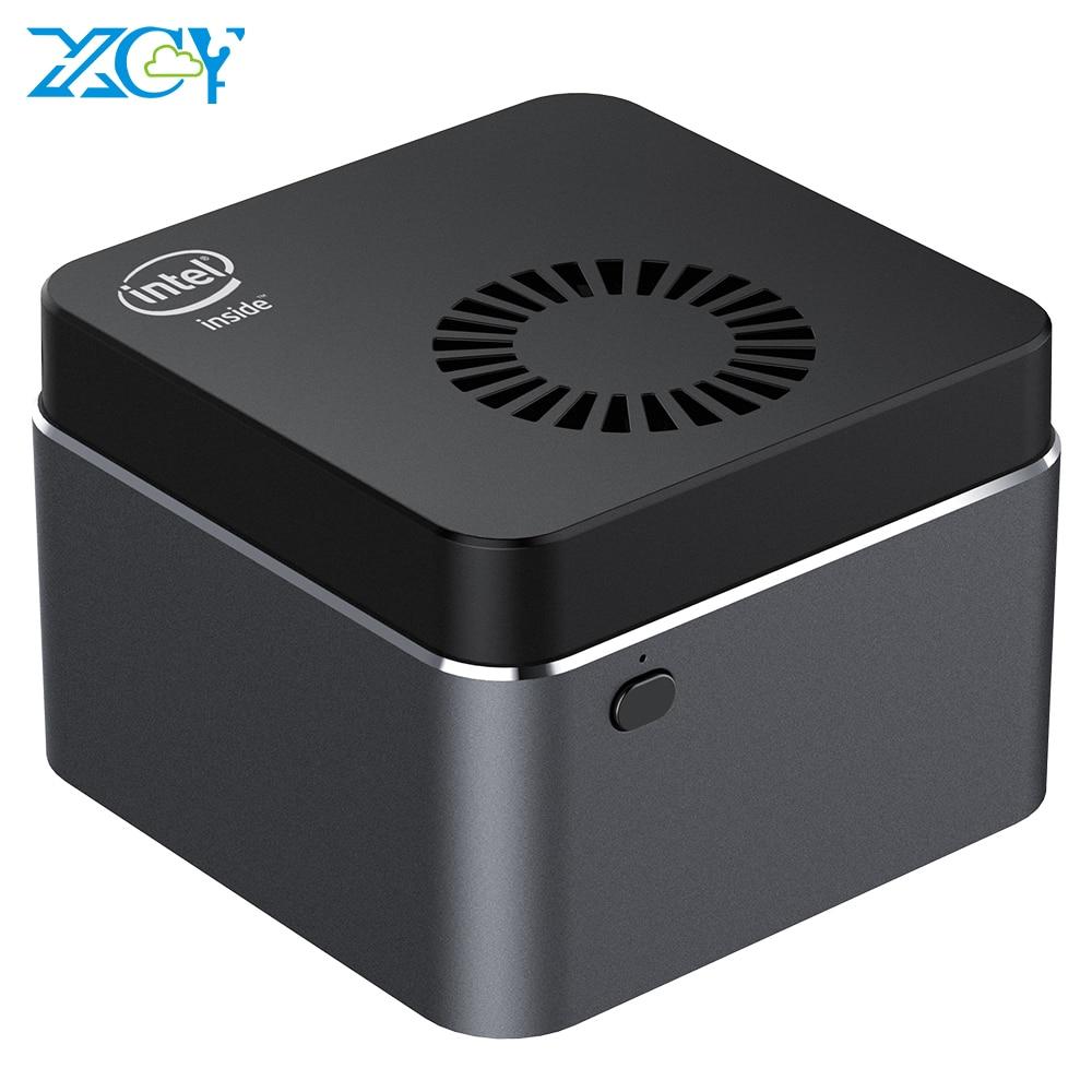 XCY портативный мини-ПК Intel Celeron N4100 четырехъядерный 8 Гб LPDDR4 128 ГБ M.2 SSD 2,4G/5,0G Wi-Fi Bluetooth 4,2 4K 60 Гц Windows 10