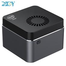 XCY Portable Mini PC Intel Celeron N4100 Quad-Cores 8GB LPDDR4 128GB M.2 SSD 2.4G/5.0G Wi-Fi Bluetooth 4.2 4K 60Hz Windows 10