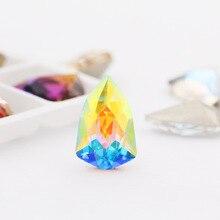 Блеск АБ острый нижний щит, камни и кристаллы стразы горный хрусталь аппликация стразовая для одежда ремесло ногтей искусство украшения