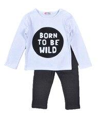 все цены на Autumn Winter Boys Sets Casual Long Sleeve Baby Clothing Tops Toddler Print Letter T-Shirts Infant Pants for Children Costume онлайн