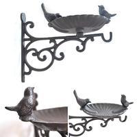 Wrought Iron Basket Bracket Hook Bracket Lantern,Flower Pot Plant Hanger Suitable For Outdoor Indoor Hanging Bird Feeder Wind