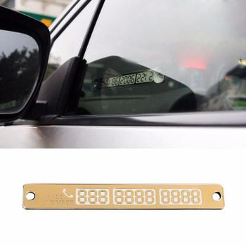 Car Styling Telephone Number Card Sticker 15*2cm Night Luminous Temporary Car Parking Card Plate Suckers Phone Number Card 2020 image