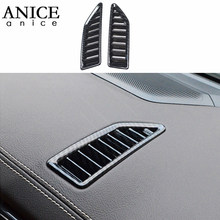 2pc Carbon fiber kleur Airconditioning Dashboard Vent Cover fit voor Ford Ranger Everest Endeavour 2015 2016 2017 2018 2019 ABS(China)
