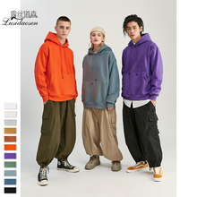 Mens Thick Autumn And Winter Solid Color Plus Velvet Oversize Off Shoulder Hooded Clothing