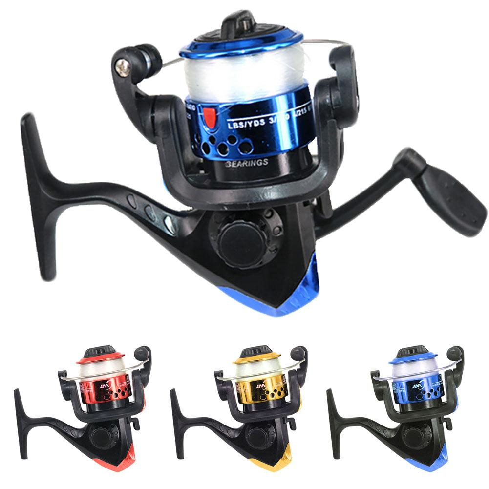 3 Bearing Balls Mini High Speed Spinning Fishing Reel With 60m Transparent Line New Chic