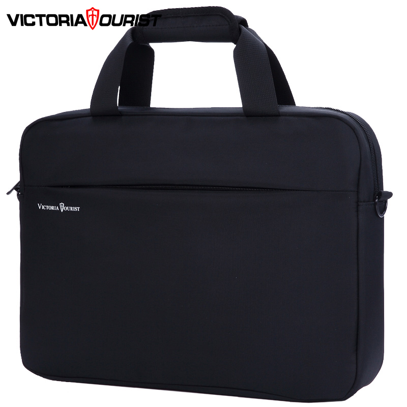 "Victoriatourist Business Handbag Men Women Stylish Versatile Briefcase 15.6"" Laptop Bag Multi-layer Space Messenger Bag"