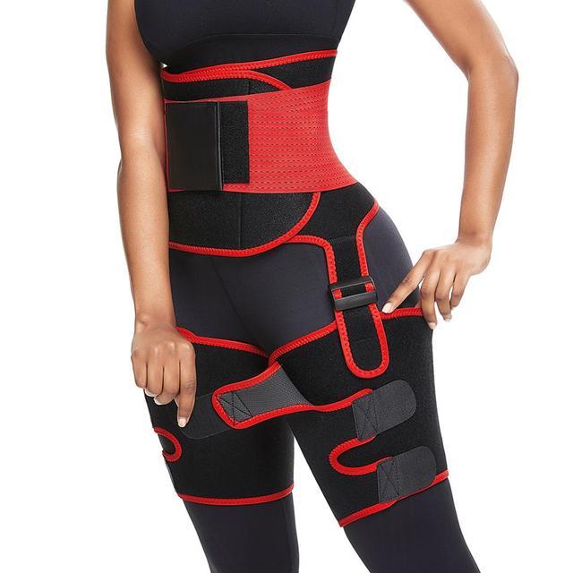 WAIST SECRET Women High Waist Thigh Trimmer Neoprene Sweat Shapewear Slimming Leg Shapers Adjustable Waist Trainer Slimming Belt 2