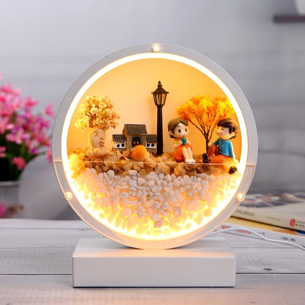 atmosfera romantica candeeiro mesa quarto luzes 04