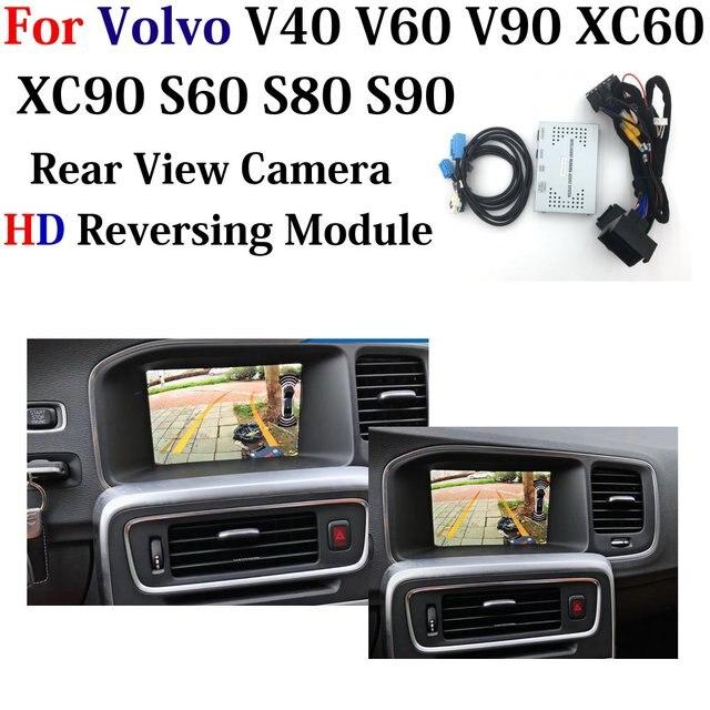 HD Backup kamera parkowania dla Volvo V40 V60 V90 XC60 XC90 S60 S80 S90 2010 2020 kamera cofania poprawić Park akcesoria pomocnicze