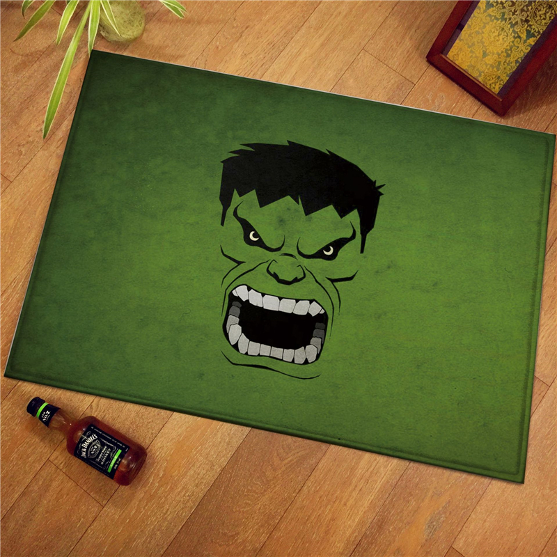 60x40cm Marvel The Avenger Print Modern Home Doormat Insole Kitchen Carpet Indoor Outdoor Welcome Bathroom Anti-slip Floor Mats