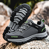 Men Hiking Shoes Waterproof Leather Sneakers Men's Boots Outdoor Male Hiking Boots Work Shoes Climbing Trekking Sports Sneakers