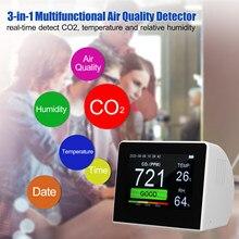 Protable detector de dióxido carbono medidor de qualidade do ar monitor analisador gás confiável digital tvoc hcho co2 e aqi detector