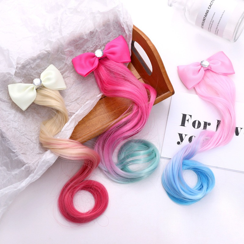 1PC Baby Kids Girls Ribbon Bow Elastic Rubber Bands Hair Rope Hair Accessories