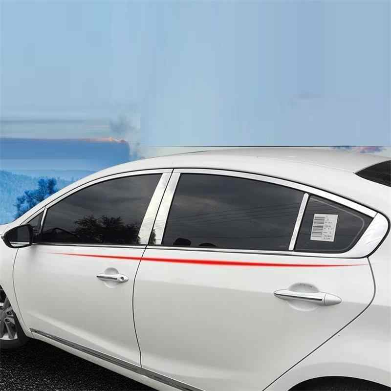 Window Body Exterior Durable Decorative Chromium Automobile Car Styling Bright Sequins 11 12 13 14 15 16 17 18 FOR Kia K3