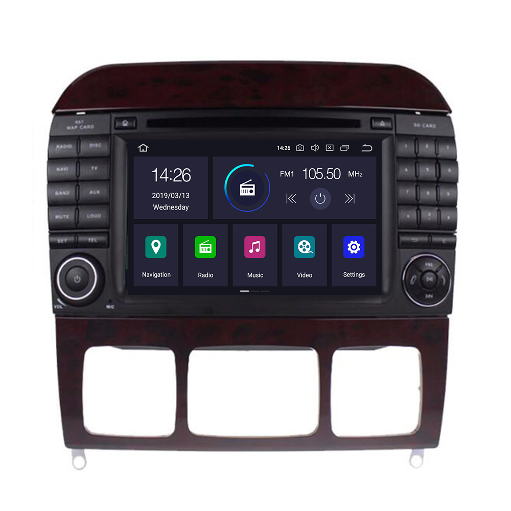 Car Multimedia Player 2 din Android 9.0 4+64G AutoRadio For Mercedes <font><b>Benz</b></font> S-Class <font><b>W220</b></font> W215 S280 S320 S350 <font><b>S500</b></font> GPS Navigation image