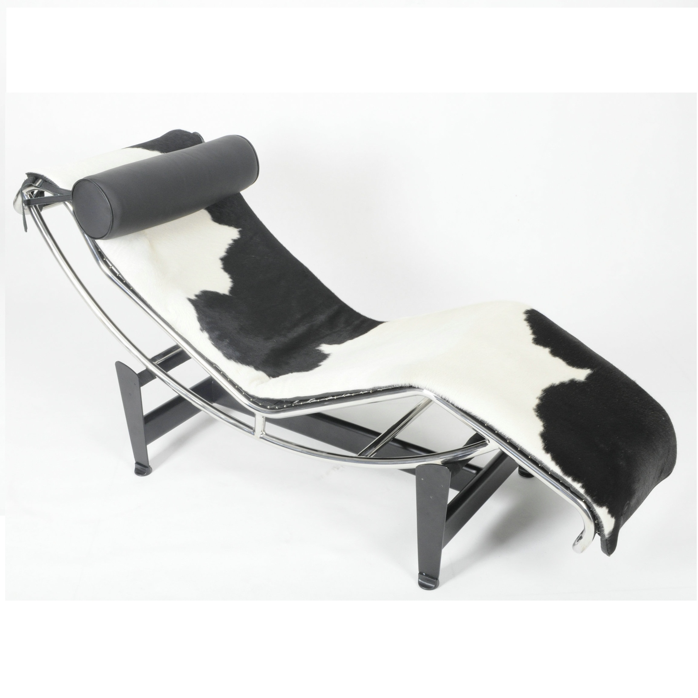 Free Shipping U-BEST Le Corbusier Lc4 Chaise Lounge Chair Cushion,only For Leather Cushion !Black And White Color