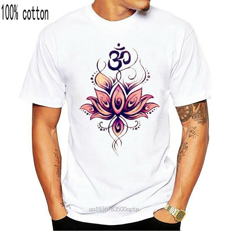 Женская футболка, иллюстрация Будды, медитации, йоги, лотоса, с принтом Om, TS1163|Футболки| | АлиЭкспресс
