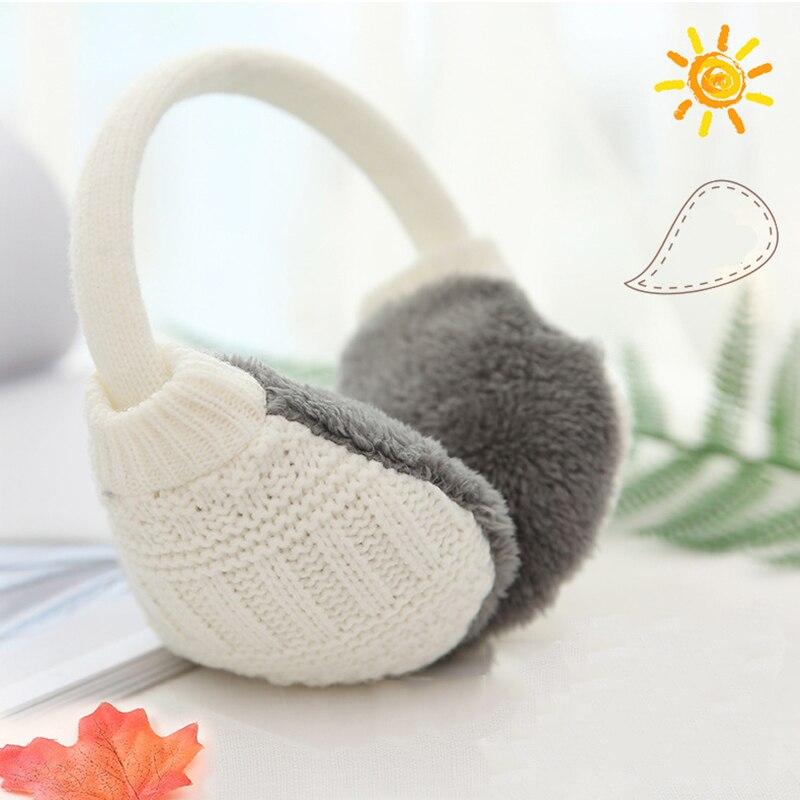 Fashion Winter Warm Knitted Earmuffs Ear Warmers Women Girls Ear Muffs Earlap Plush Knit Solid Ear Protect