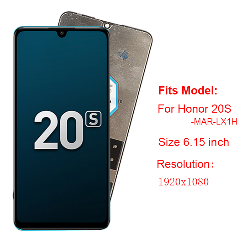 For Huawei Honor 20S 20 S MAR-LX1H LCD Display Touch Screen Mult Touch Digitizer Screen Replacement For Honor 20S Russia Version