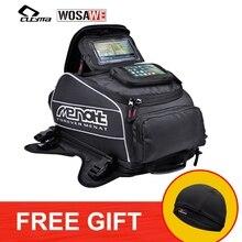 WOSAWE Magnet Motorcycle Tank Bag Big Oil Fuel Waterproof Helmet Motocross Travel Luggage Bags Moto GPS Touchscreen