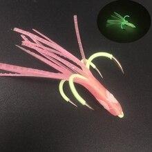 2 шт.* 6 см осьминог Кальмар юбка рыболовный светящийся крюк четыре крючка рыболовный крючок стальной сплав морская Рыболовная Приманка Джиги вспомогательный крючок