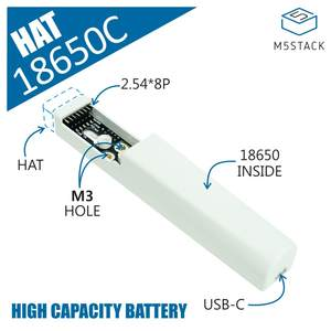 M5stack Battery Official Rechargeable HAT for 18650C Base-Designed Large-Capacity