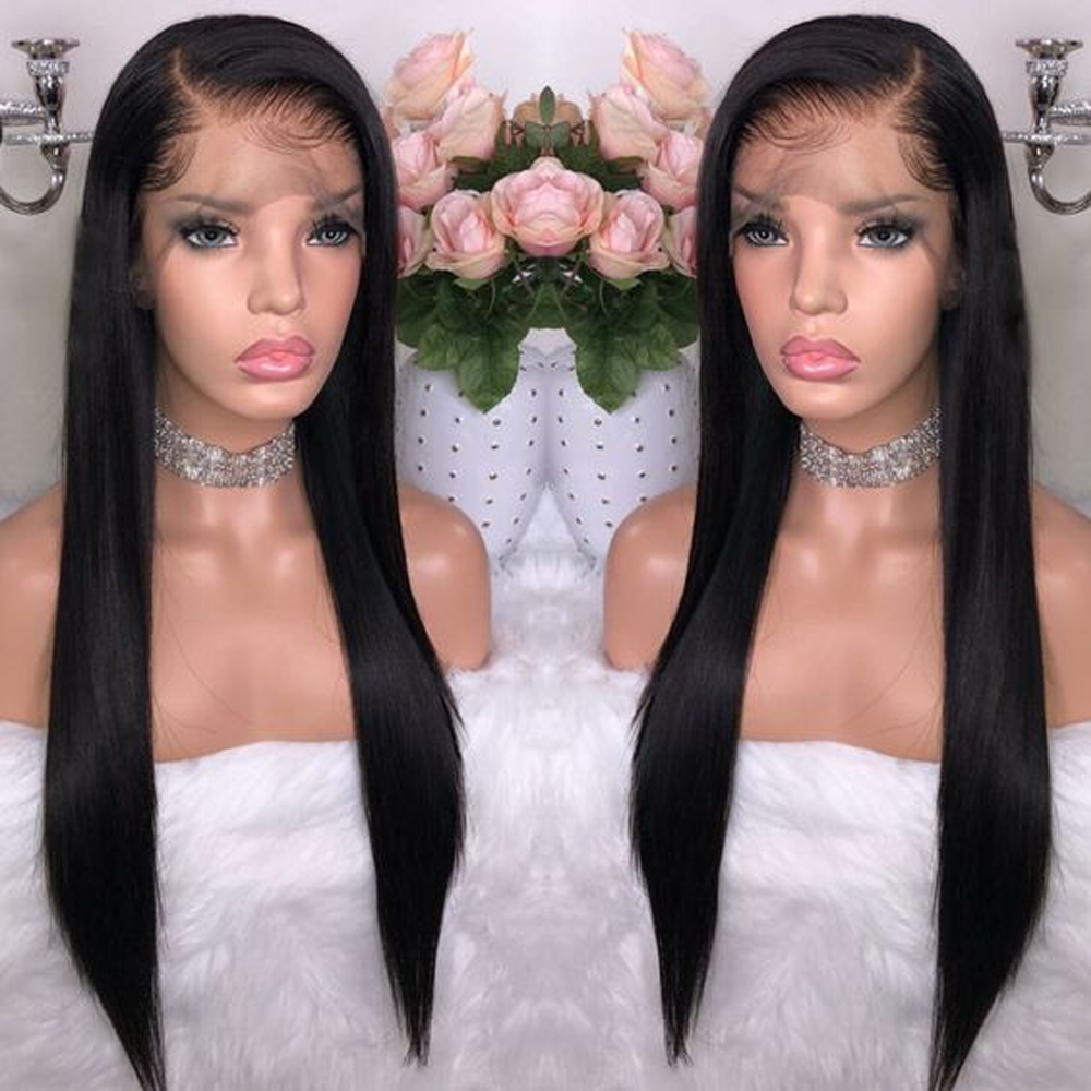 Sapphire Lace Frontal Wig Pre Plucked With Baby Hair Brazilian Straight Remy Lace Frontal Human Hair Wigs For Black Women