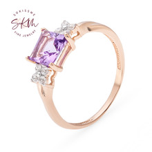 SKM AAA rings for women simple 14k 18k rose gold moissanite rings Engagement rings designer Promise Luxury Fine Jewelry