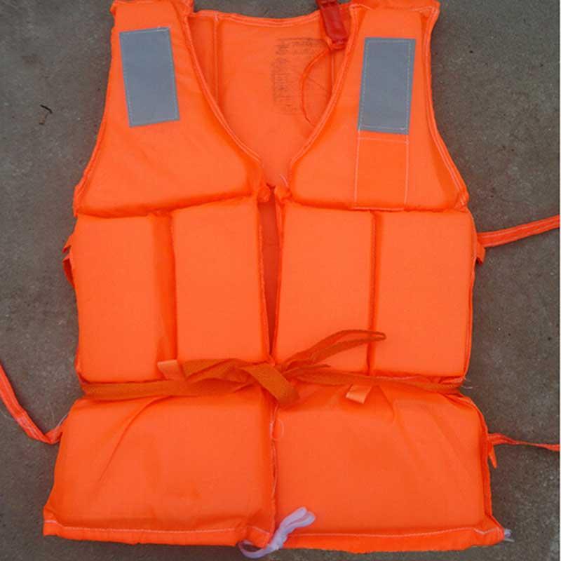 Спасательный жилет для взрослых, оранжевая пенопластовая спасательная жилетка с свистком, уличные принадлежности для спасения, 1 шт.