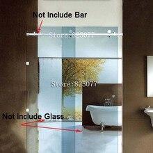 Без стекла и без бара) раздвижные стеклянные душевые двери, бескаркасные весь набор оборудования 304 нержавеющая сталь HD10