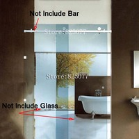 Free Shipping (No glass & No Bar) sliding glass shower doors frameless Whole set Hardware 304 stainless steel HD10