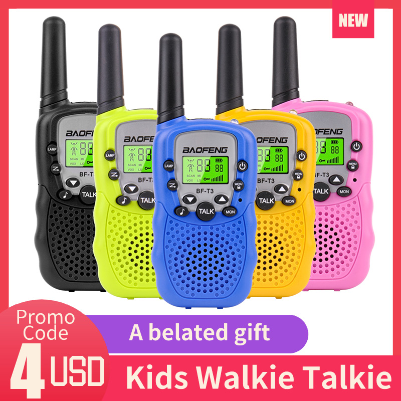2Pcs Walkie Talkie Kids Radio Handheld Mini Walkie-talkie For Children Communicator Flashlight Safe Power Two Way Interphone
