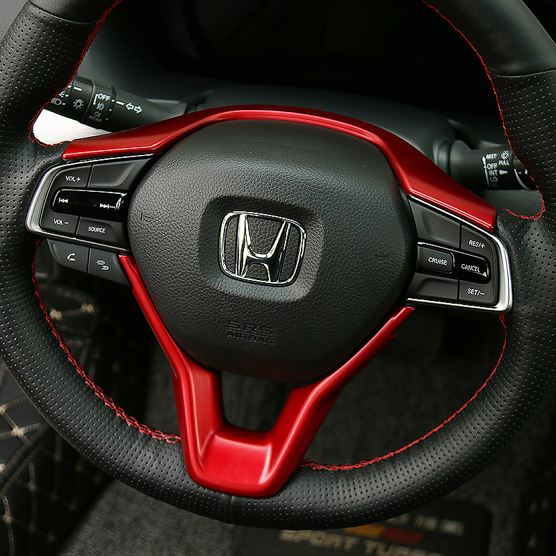 For Honda Accord 10 10th Generation 2018 2019 2020 Car Steering Wheel Decorative Frame Sticker Interior Modification