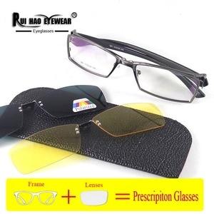 Image 3 - Customize Prescription Eyeglasses Optical Glasses Fill Resin Lenses Myopia Spectacles Fashion Glasses Frame Clip on Sunglasses