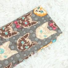 Tessuto di cotone semplice mezzo metro con cartone animato gatto stampa a mano fai da te indumento vestito bambini tessuto 100% cotone CR-525