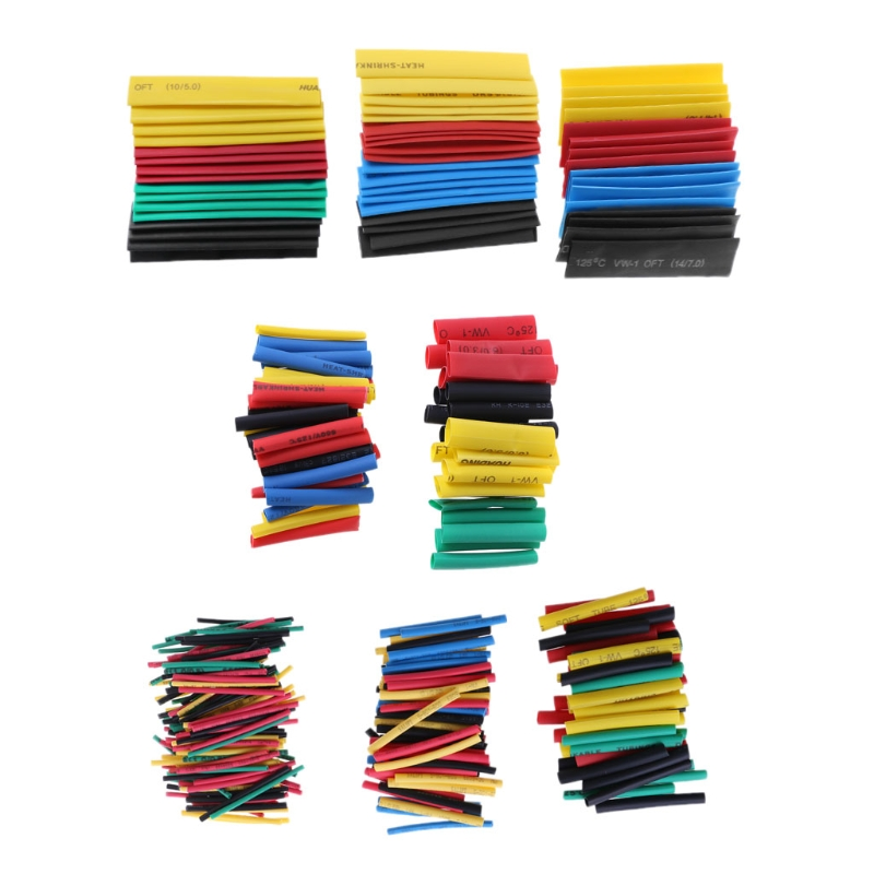 328Pcs 8 Sizes Multi Color Polyolefin 2:1 Halogen-Free Heat Shrink Tubing Tube Insulated Sleeving Tubing Whosale&Dropship